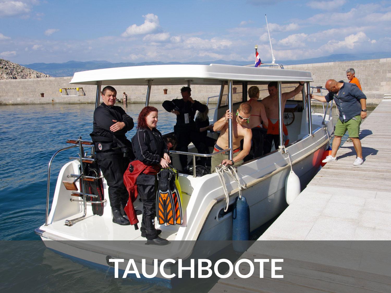 Tauchboote und Bootstauchgänge